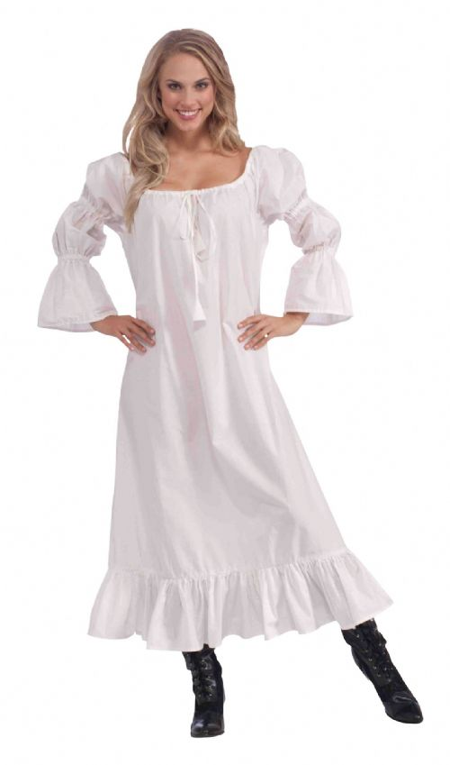 Adults Medieval Chemise Costume Middle Dark Ages Fancy Dress Outfit